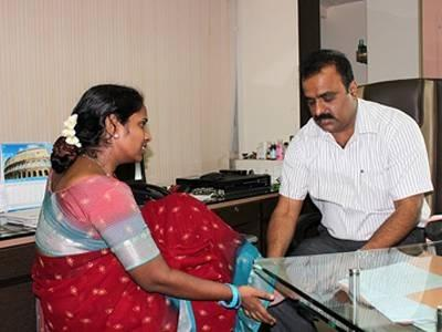 Dr. Sunil Chavan with Patient